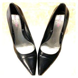 Connie | Black Leather Work Heel